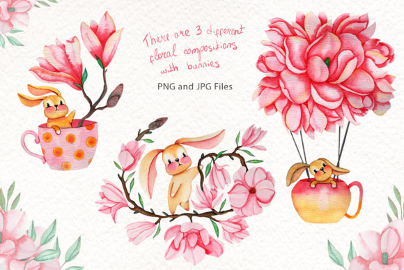 Print on Demand: Magnolia Dream-Watercolor Illustrations Graphic Illustrations By tanatadesign - Image 2