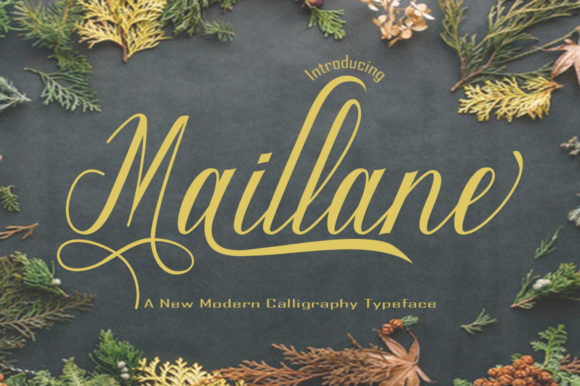 Print on Demand: Maillane Script & Handwritten Font By faisal_Alfaraby - Image 1