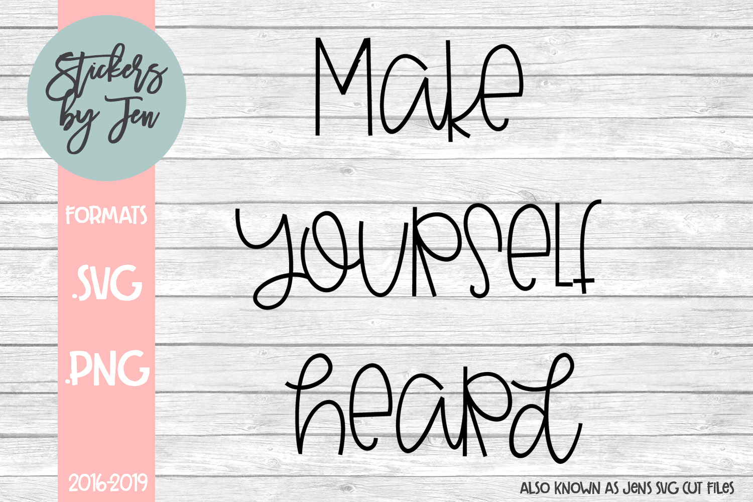 Download Free Make Yourself Heard Svg Graphic By Stickers By Jennifer for Cricut Explore, Silhouette and other cutting machines.