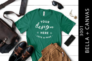Male Kelly Bella Canvas 3001 Tee Mockup Graphic Product Mockups By lockandpage