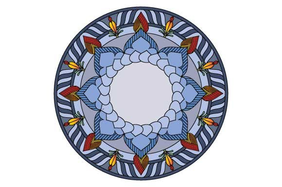 Download Free Mandala Design Element Color Svg Eps Pdf Graphic By Graphicsfarm for Cricut Explore, Silhouette and other cutting machines.
