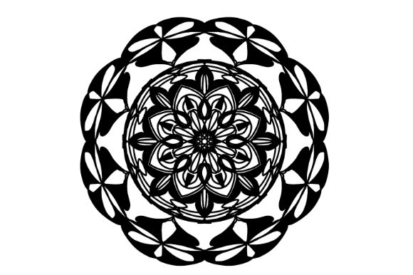 Download Free Mandala Vector Art Pattern 739 Graphic By Redsugardesign for Cricut Explore, Silhouette and other cutting machines.