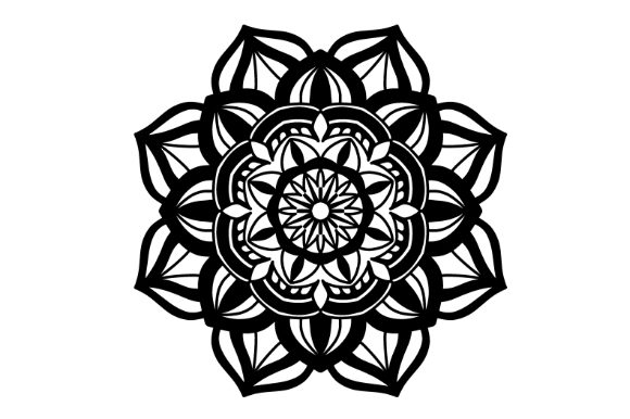 Download Free Mandala Vector Art Pattern 907 Graphic By Redsugardesign for Cricut Explore, Silhouette and other cutting machines.