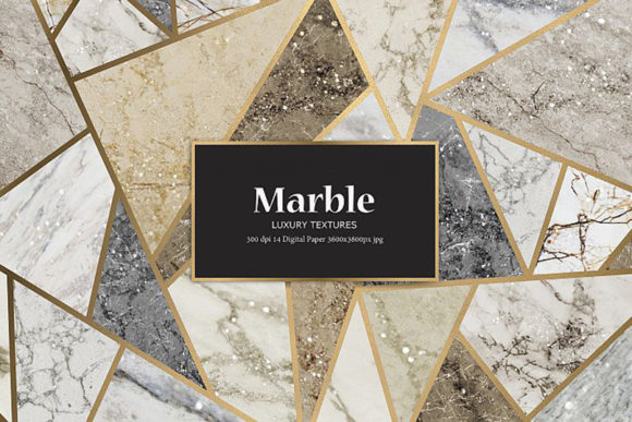 Marble and Glitter Textures, Backgrounds Graphic By artisssticcc