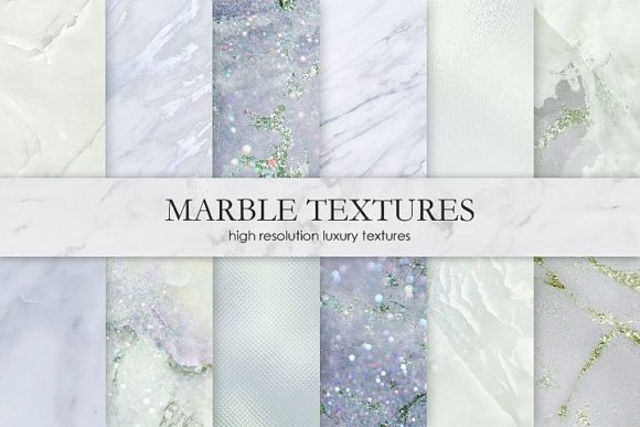 Print on Demand: Marble and Watercolor Patterns Grafik Muster von Creative Paper