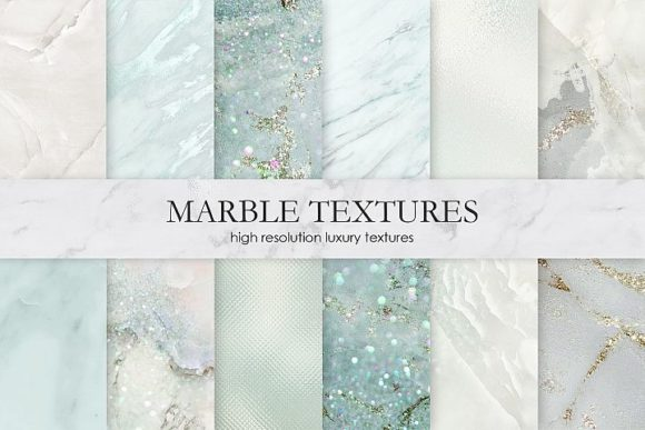 Print on Demand: Marble and Watercolor Patterns Graphic Patterns By Creative Paper