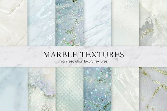 Print on Demand: Marble and Watercolor Textures Graphic Textures By Creative Paper