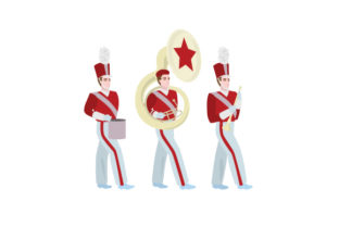 Marching Band Group Craft Design By Creative Fabrica Crafts