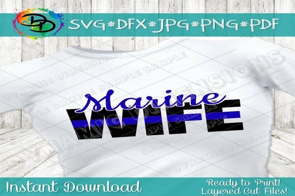 Download Free Marine Wife Svg Military Wife Svg Mari Graphic By for Cricut Explore, Silhouette and other cutting machines.