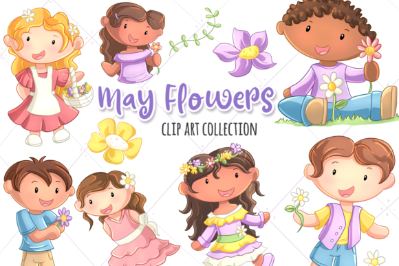 Print on Demand: May Flowers Grafik Illustrationen von Keepinitkawaiidesign