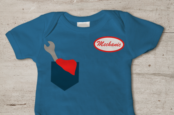 Download Free Mechanic Pocket And Name Badge Svg Graphic By Designedbygeeks for Cricut Explore, Silhouette and other cutting machines.