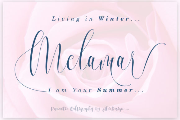 Print on Demand: Melamar Script & Handwritten Font By aldedesign