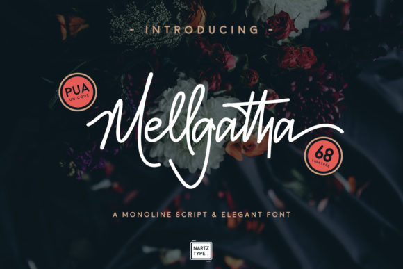 Print on Demand: Mellgatha Script & Handwritten Font By Nartztype