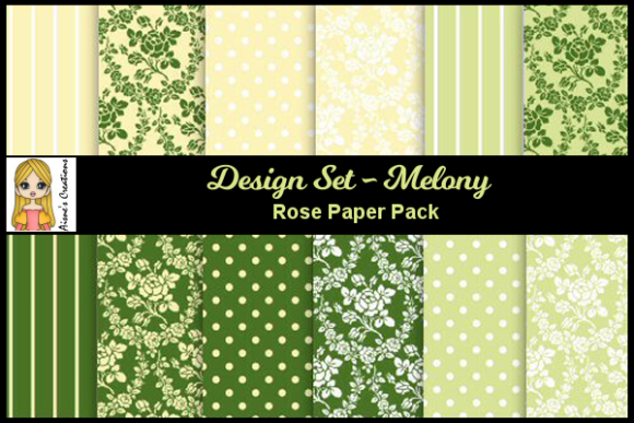 Melony - Rose Paper Pack Graphic By Aisne