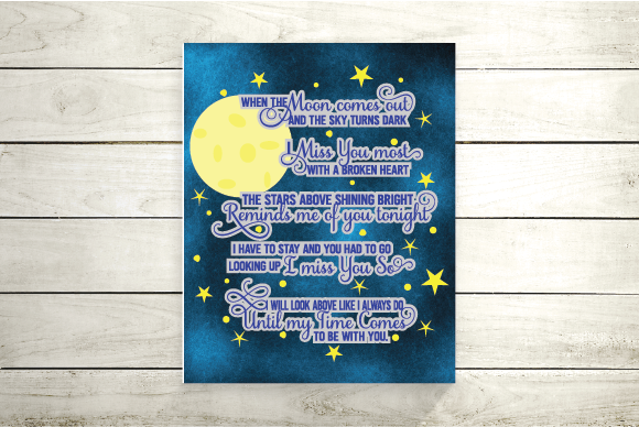 Download Free Memorial Missing You Graphic By Kayla Griffin Creative Fabrica for Cricut Explore, Silhouette and other cutting machines.