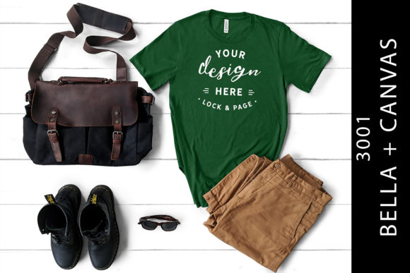Download Free Mens Bella Canvas Evergreen Mockup Shirt Graphic By Lockandpage for Cricut Explore, Silhouette and other cutting machines.