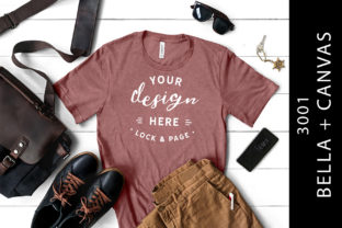 Mens Heather Mauve Bella Canvas 3001 Tee Graphic Product Mockups By lockandpage
