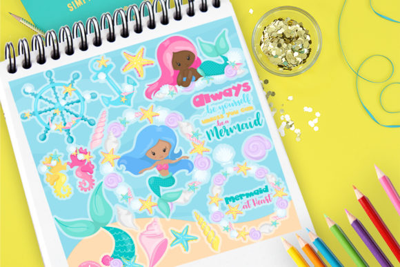 Print on Demand: Mermaid Friends Graphic Illustrations By Prettygrafik