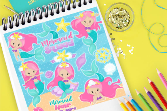 Print on Demand: Mermaid Squad Graphic Illustrations By Prettygrafik