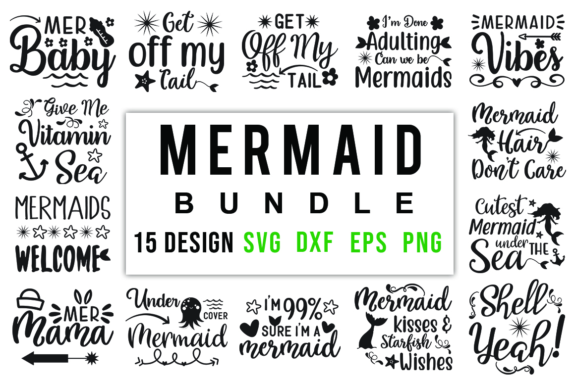 Mermaid Bundle Graphic By Red Box Creative Fabrica