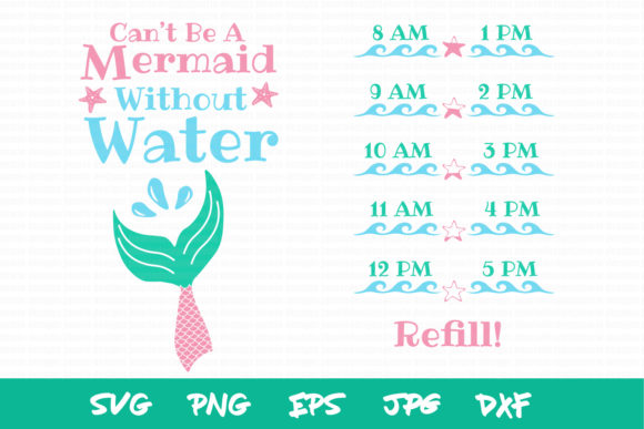 Mermaid Water Bottle Tracker Mermaid Svg Graphic Crafts By thejaemarie