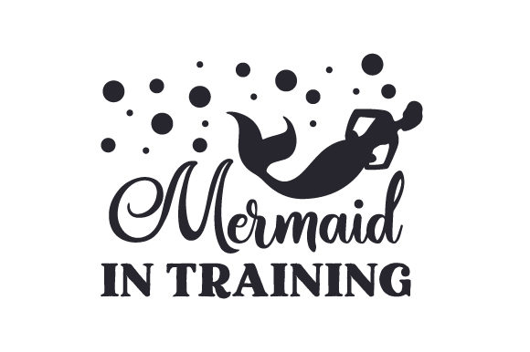 Mermaid in Training Kids Craft Cut File By Creative Fabrica Crafts
