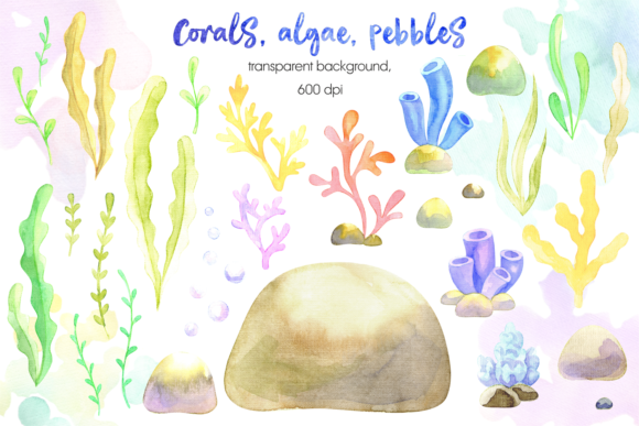 Print on Demand: Mermaids. Watercolor Cliparts Set. Graphic Illustrations By Olga Belova - Image 4