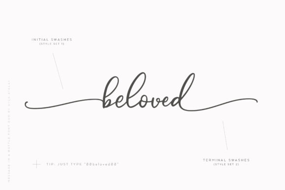 Print on Demand: Message in a Bottle Duo Script & Handwritten Font By Ayca Atalay - Image 13