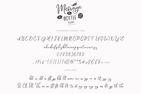 Print on Demand: Message in a Bottle Duo Script & Handwritten Font By Ayca Atalay - Image 15