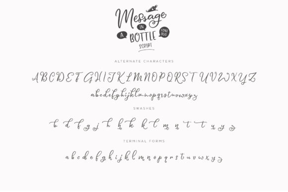 Print on Demand: Message in a Bottle Duo Script & Handwritten Font By Ayca Atalay - Image 16
