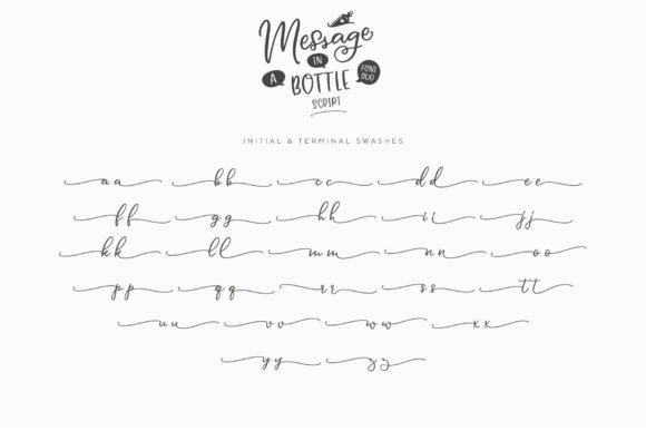 Print on Demand: Message in a Bottle Duo Script & Handwritten Font By Ayca Atalay - Image 17