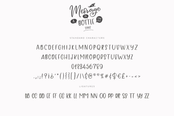 Print on Demand: Message in a Bottle Duo Script & Handwritten Font By Ayca Atalay - Image 18