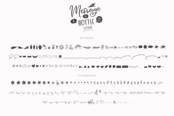 Print on Demand: Message in a Bottle Duo Script & Handwritten Font By Ayca Atalay - Image 19