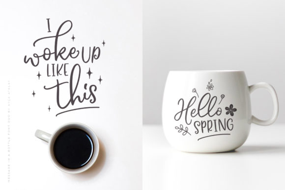 Print on Demand: Message in a Bottle Duo Script & Handwritten Font By Ayca Atalay - Image 4