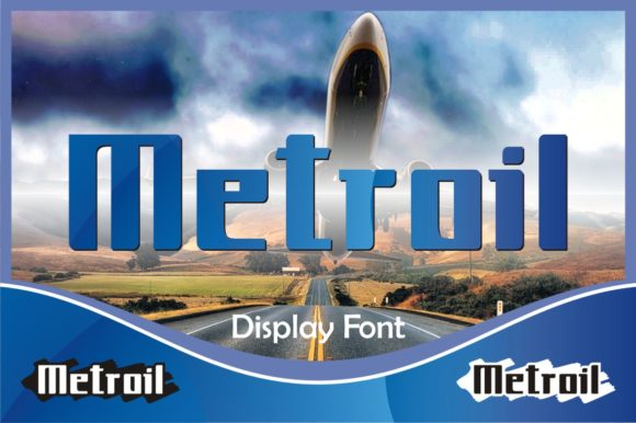 Print on Demand: Metroil Display Font By emanesdsign
