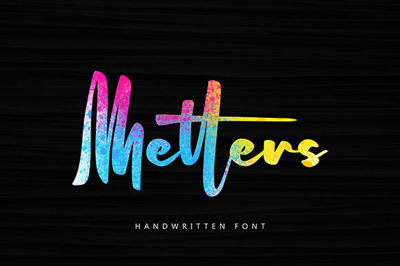 Print on Demand: Metters Script & Handwritten Font By missinklab