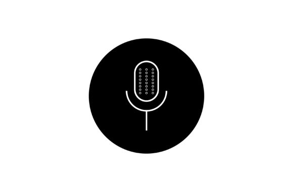 Print on Demand: Microphone Icon Vector Graphic Icons By TheDesignerBD