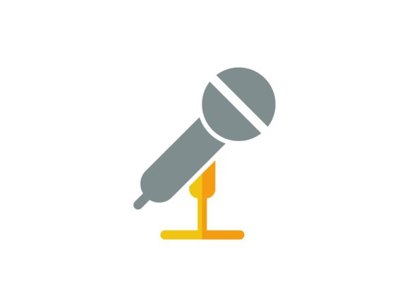 Microphone Flat Color Vector Icon Graphic By tutukof