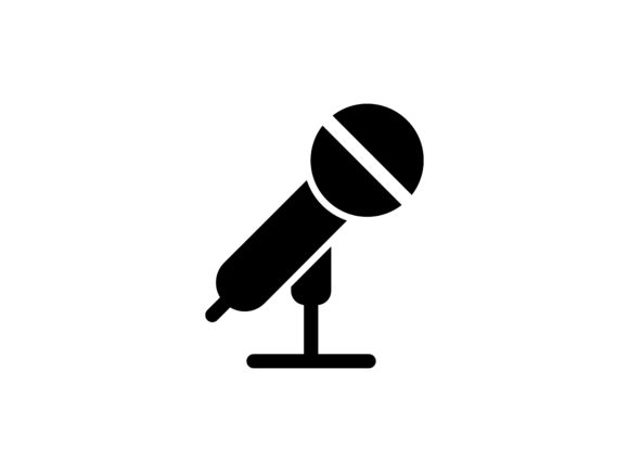 Microphone Glyph Vector Icon Graphic By tutukof