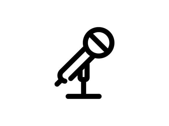 Microphone Outline Vector Icon Graphic Icons By tutukof - Image 1