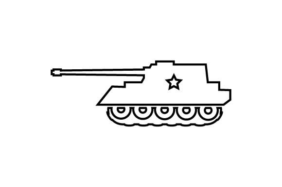 Download Free Military Army Tank Icon Vector Eps10 Graphic By Hoeda80 for Cricut Explore, Silhouette and other cutting machines.