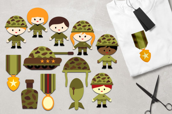 Print on Demand: Military Graphic Illustrations By Revidevi