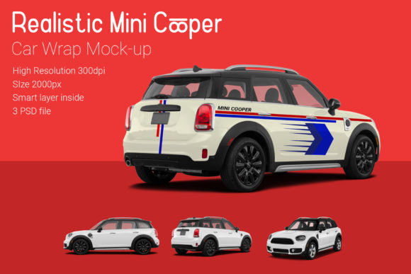 Mini Cooper Car Mock-Up Graphic Product Mockups By gumacreative - Image 2