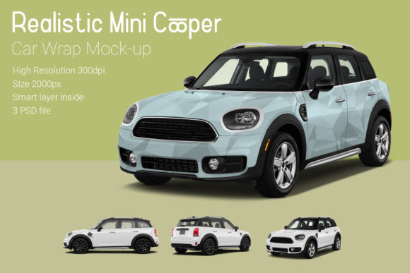 Mini Cooper Car Mock-Up Graphic Product Mockups By gumacreative - Image 3