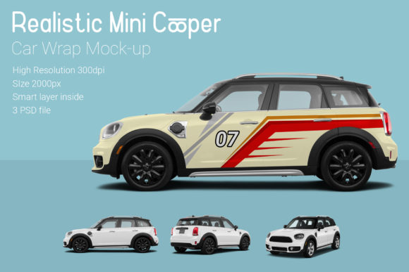 Mini Cooper Car Mock-Up Graphic Product Mockups By gumacreative - Image 1