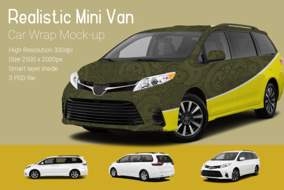 Mini Van Car Mock-Up Graphic Product Mockups By gumacreative