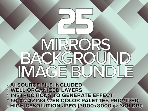 Print on Demand: Mirror Background Wallpaper Image Bundle Graphic Backgrounds By yumiguelgfxartshop - Image 1