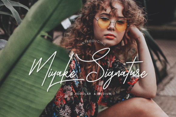 Print on Demand: Miyake Script & Handwritten Font By creativemedialab