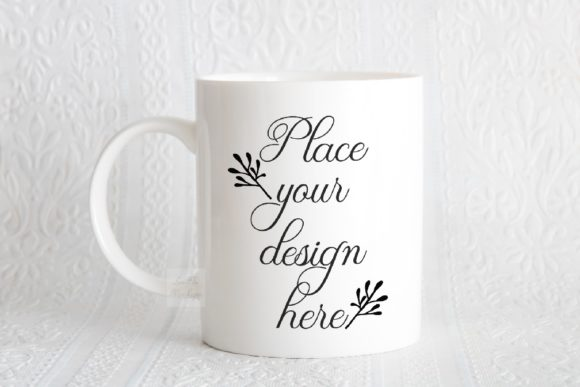 Print on Demand: Mockup White Mug Minimal Feminine Photo Graphic Product Mockups By Leo Flo Mockups