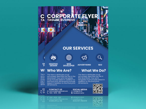 Modern Corporate Flyer Design Graphic Print Templates By tuangrafik - Image 2